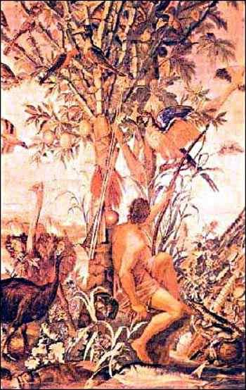 Albert Eckhout - Caçador índio (tapeçaria)