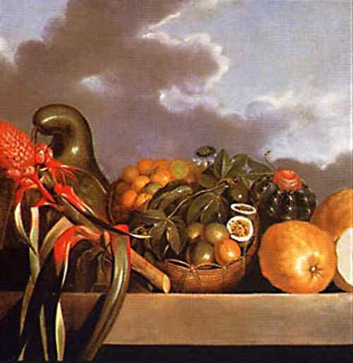 Albert Eckhout - Cabaça, frutas cítricas e cacto