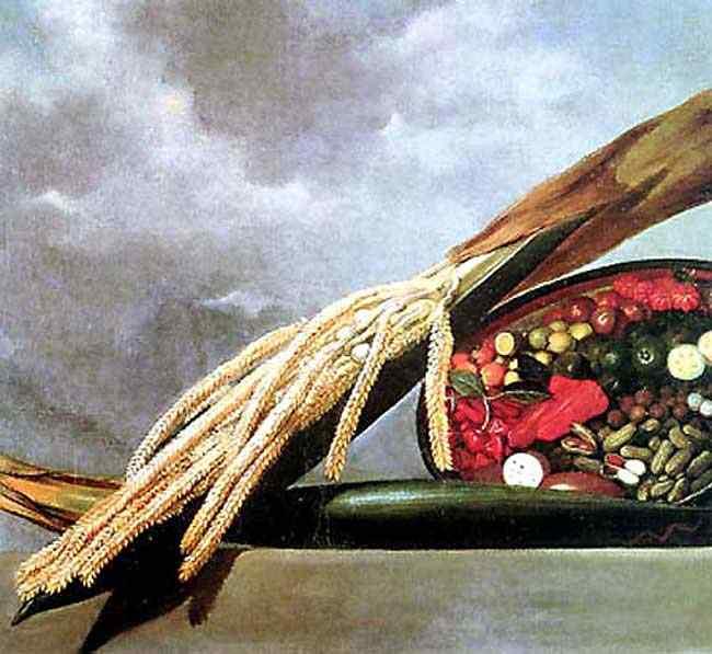 Albert Eckhout - Florescência de palmeira e cesta de temperos