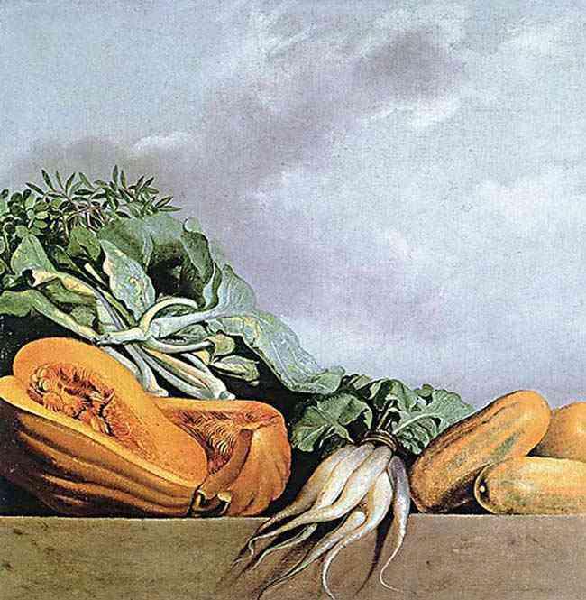 Albert Eckhout - Melão, repolho e outros vegetais
