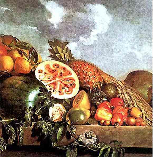 Albert Eckhout - Abacaxi, melancias e outras frutas