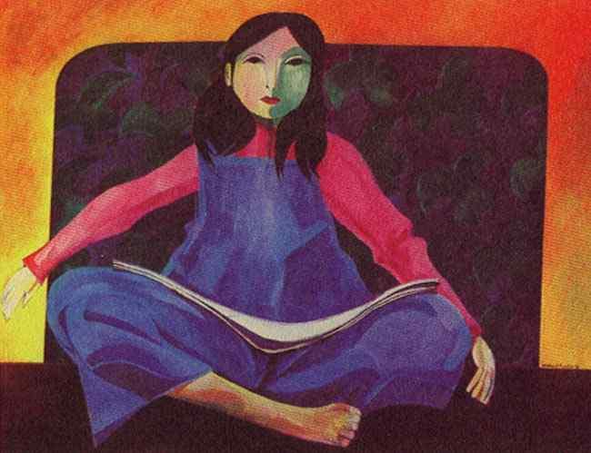 Aldemir Martins - Menina lendo