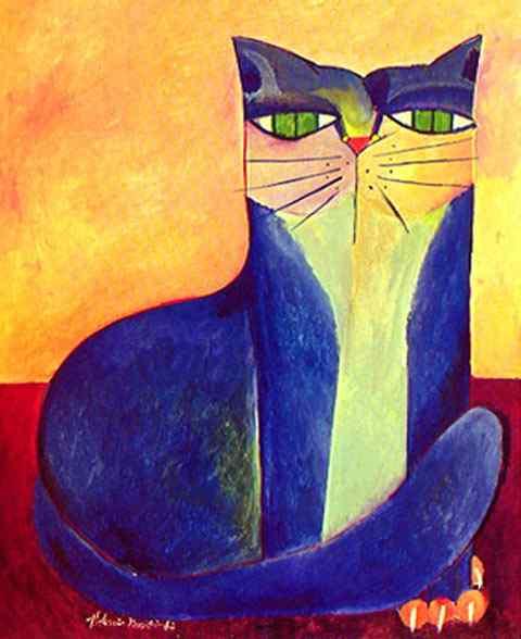 Aldemir Martins - Gato azul III
