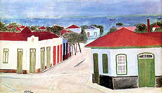 Alfredo Volpi - Vista de Itanhaém, Marinha de Itanhaém
