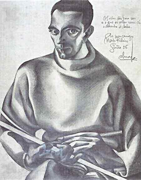 José Sobral de Almada Negreiros - Auto-retrato, de prancheta