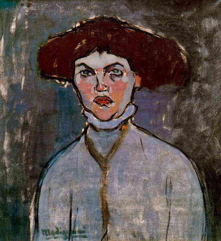 Amedeo Modigliani - Busto de mulher jovem