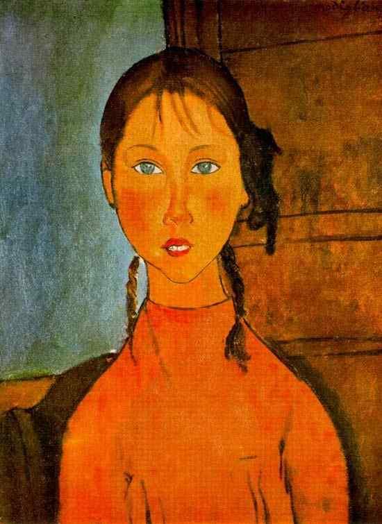 Amedeo Modigliani - Garota com tranças