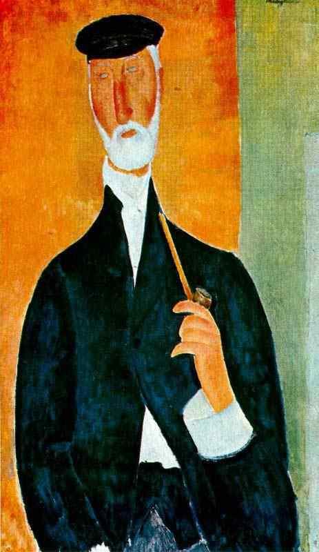 Amedeo Modigliani - Homem com cachimbo