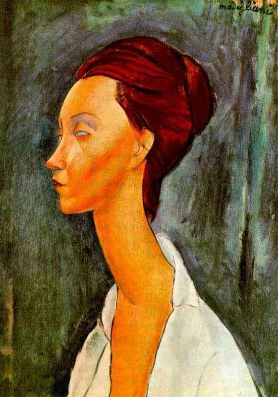 Amedeo Modigliani - Retrato de Lunia Gechowski