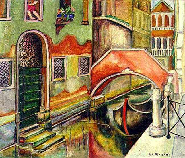 Anita Malfatti (Anita Catarina Malfatti) - Veneza, Canaletto
