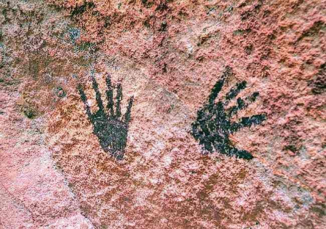 Arte pré-histórica - Pintura rupestre (Mão)