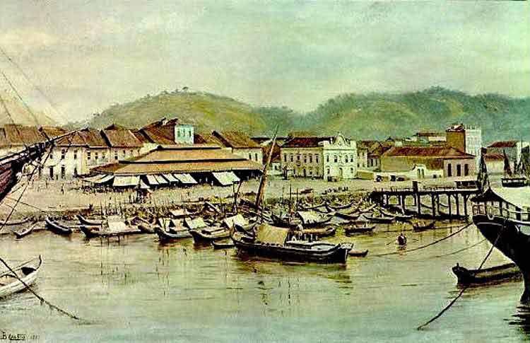Benedito Calixto - Banca de peixe e mercado das canoas