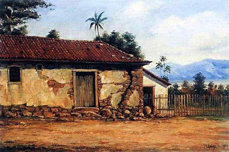 Benedito Calixto - Ruínas da Casa de Pedra de Martim Afonso