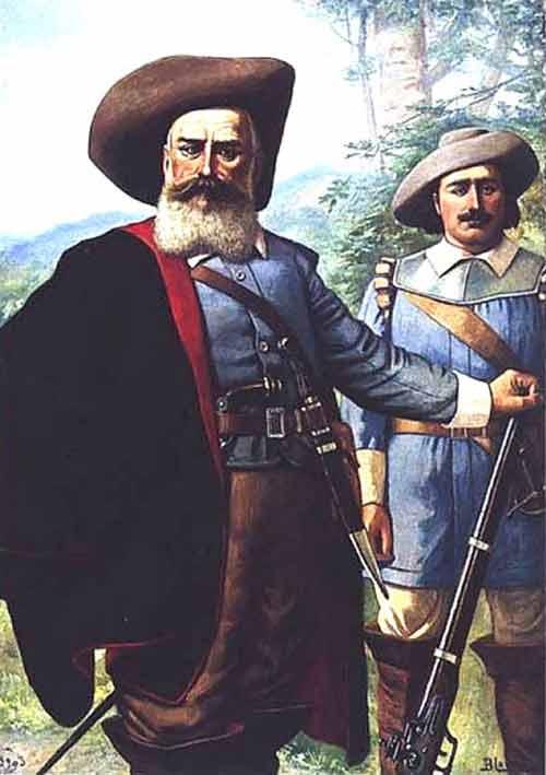Benedito Calixto - Domingos Jorge Velho, junto com seu ajudante-de-campo