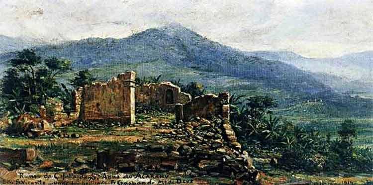 Benedito Calixto - Ruínas da Cappela de Santa Anna de Acarahu