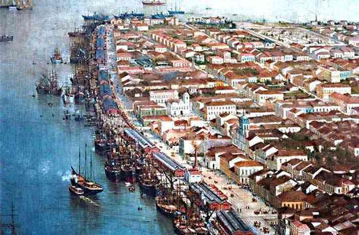 Benedito Calixto - Vista de Santos