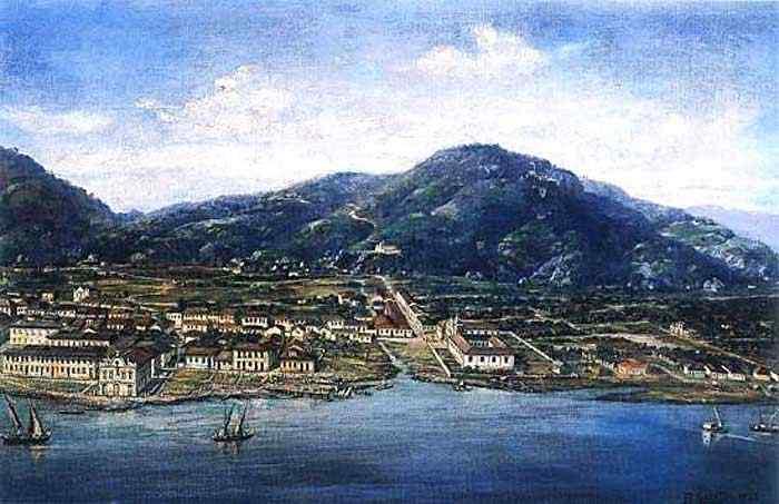 Benedito Calixto - Santos em 1822