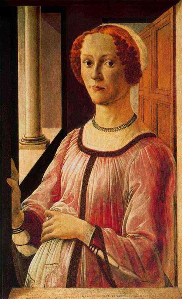 Botticelli (Alessandro di Mariano Filipepi) - Retrato de uma dama (Esmeralda Brandini)
