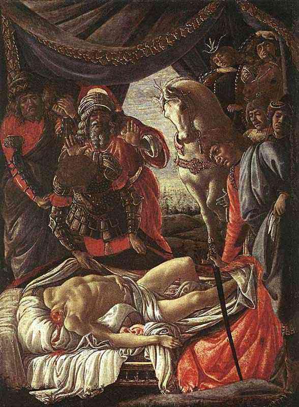 Botticelli (Alessandro di Mariano Filipepi) - História de Judite - A descoberta do corpo de Holofernes