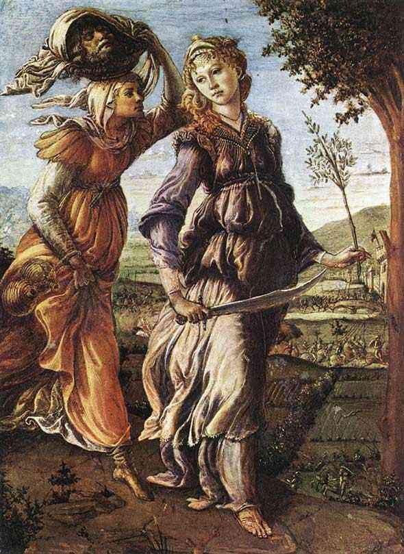 Botticelli (Alessandro di Mariano Filipepi) - História de Judite - O retorno de Judite para Betúlia