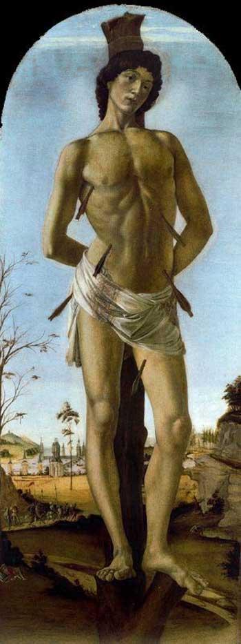 Botticelli (Alessandro di Mariano Filipepi) - São Sebastião