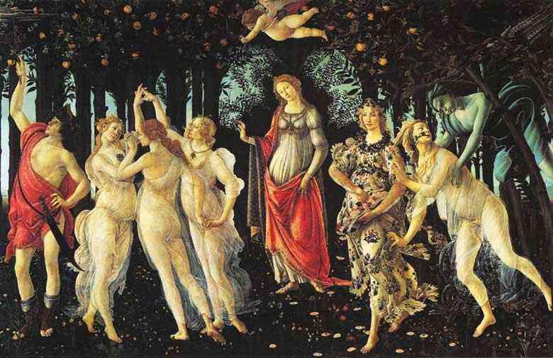 Botticelli (Alessandro di Mariano Filipepi) - A primavera