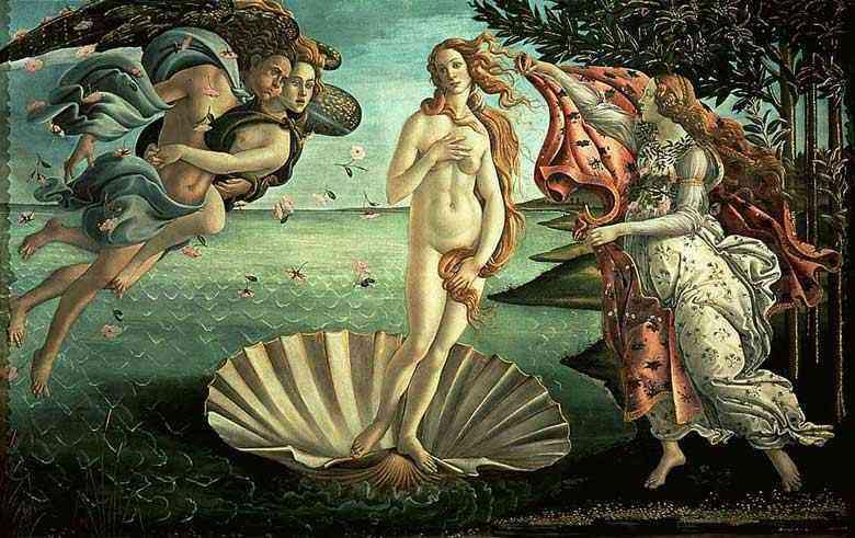 Botticelli (Alessandro di Mariano Filipepi) - O  nascimento de Vênus