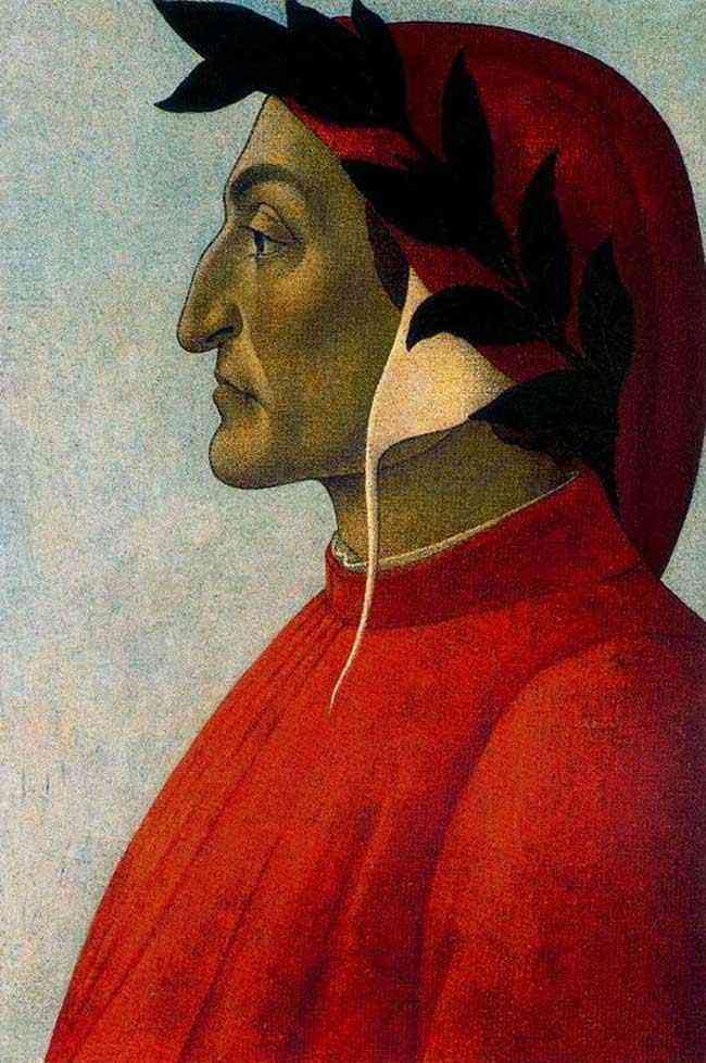 Botticelli (Alessandro di Mariano Filipepi) - Retrato de Dante