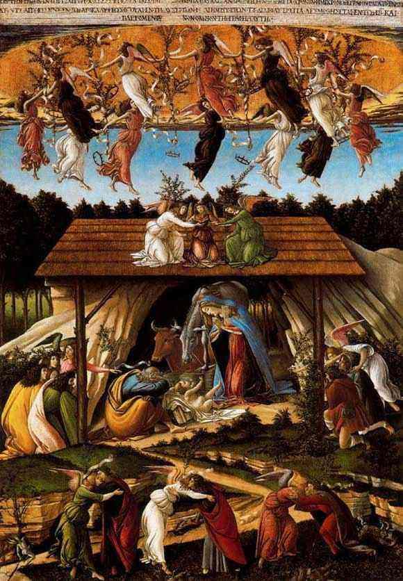 Botticelli (Alessandro di Mariano Filipepi) - Natividade mística