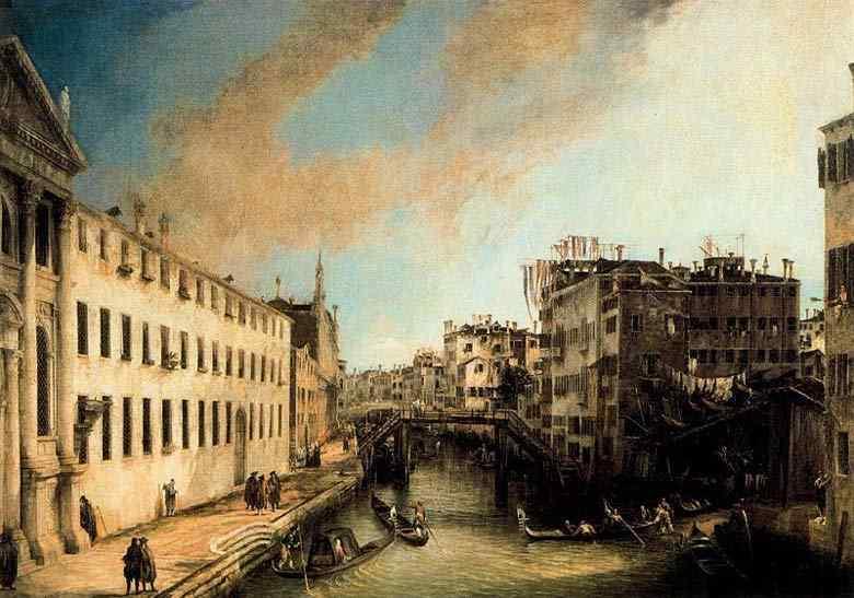 Canaletto (Antonio Canale) - O rio dos mendigos