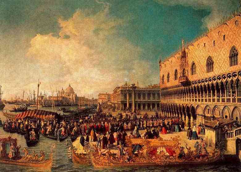 Canaletto (Antonio Canale) - Recepção do Embaixador Imperial