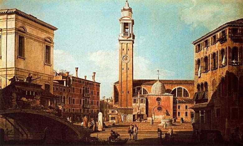 Canaletto (Antonio Canale) - O Campo dos Santos Apóstolos