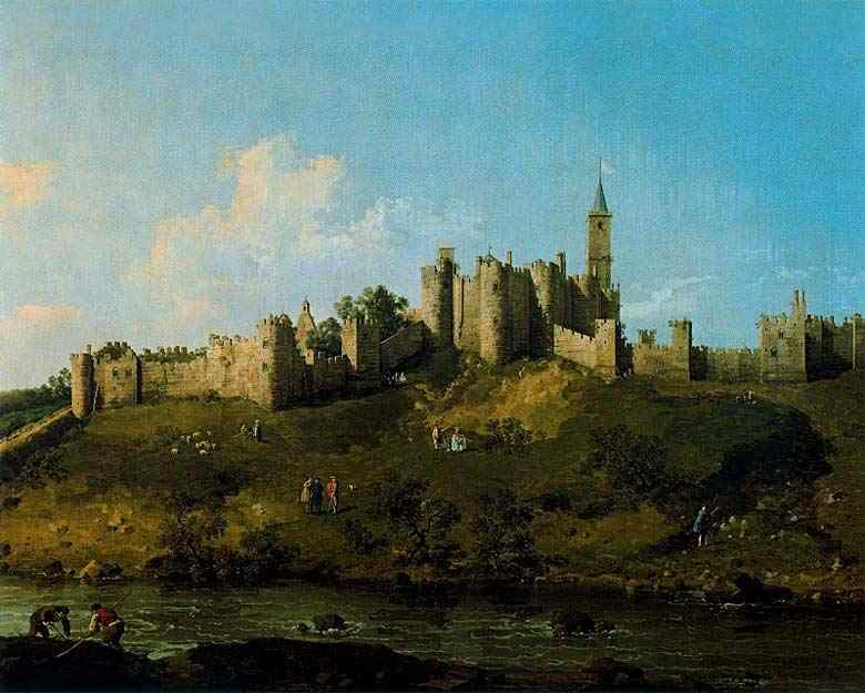 Canaletto (Antonio Canale) - Castelo de Alnwick, em Northumberland