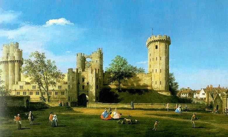 Canaletto (Antonio Canale) - Castelo de Warwick, vista leste