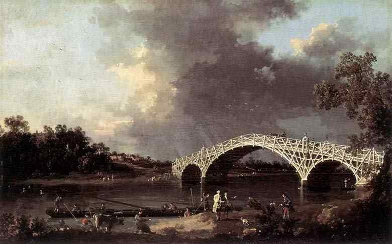 Canaletto (Antonio Canale) - A ponte de Walton