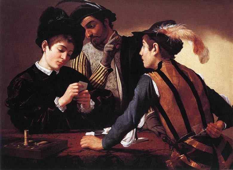 Caravaggio (Michelangelo Merisi) - Partida de cartas