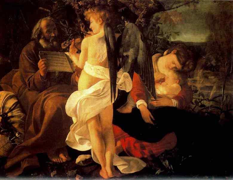 Caravaggio (Michelangelo Merisi) - Descanso da ida ao Egito