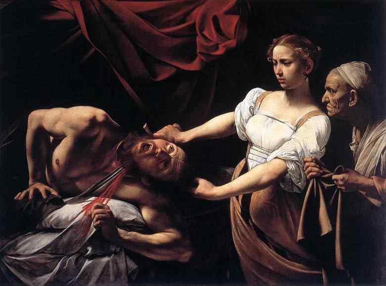 """Caravaggio (Michelangelo Merisi) - Decapitação de Holofernes (também conhecido como """"Judite e Holofernes"""")"""