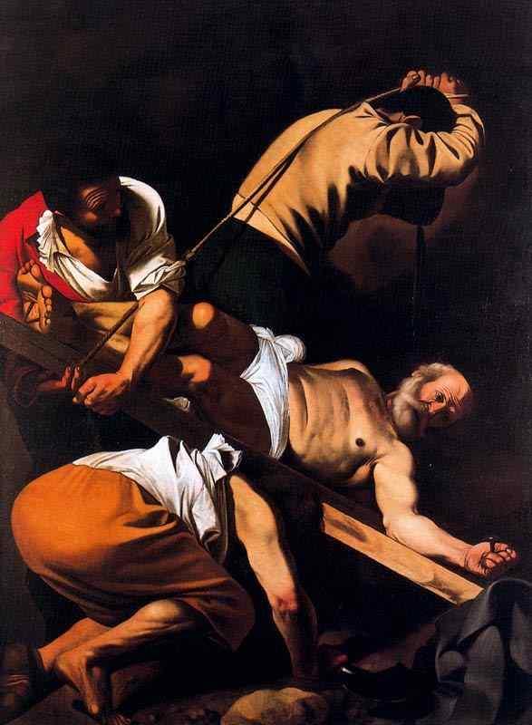 Caravaggio (Michelangelo Merisi) - Crucificação de São Pedro