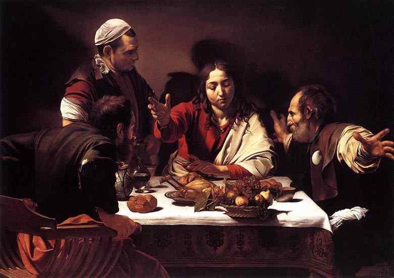 Caravaggio (Michelangelo Merisi) - A ceia de Emaús