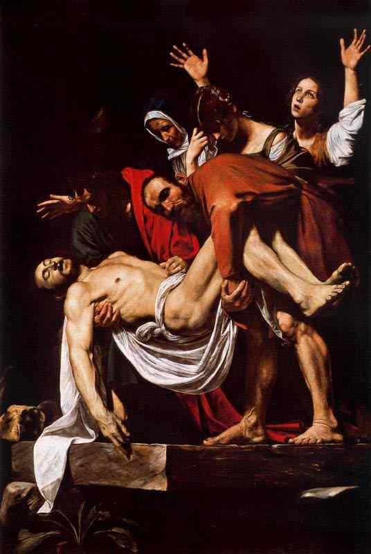 Caravaggio (Michelangelo Merisi) - O enterro de Cristo