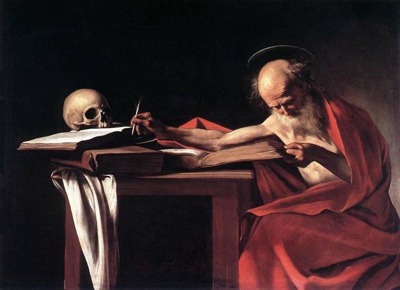 Caravaggio (Michelangelo Merisi) - São Jerônimo escrevendo