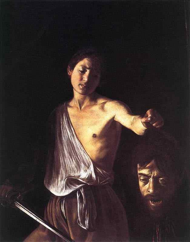 Caravaggio (Michelangelo Merisi) - Davi com a cabeça de Golias