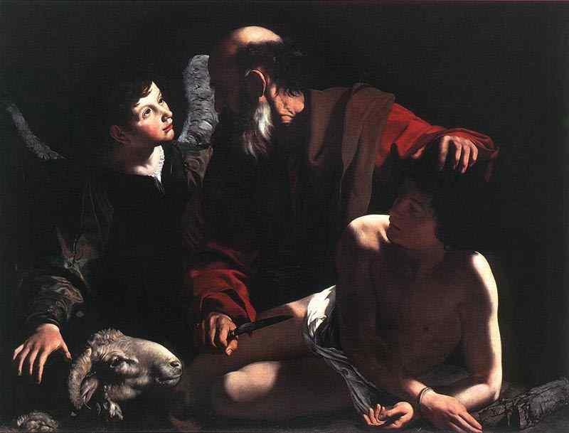Caravaggio (Michelangelo Merisi) - O sacrifício de Isaque