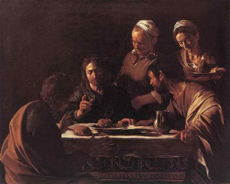 Caravaggio (Michelangelo Merisi) - Ceia em Emaús