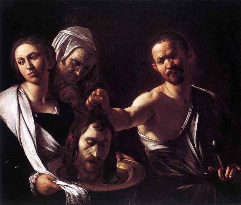 Caravaggio (Michelangelo Merisi) - Salomé com a cabeça do Batista