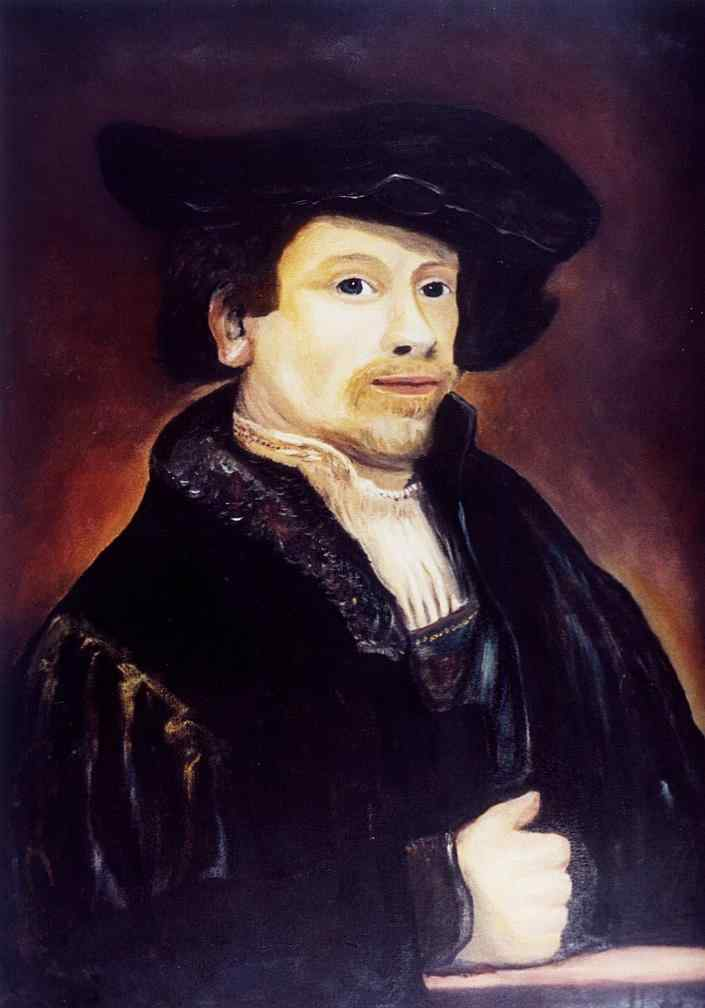 Carlos Meinardi - Auto-retrato de Rembrandt com 34 anos (Rembrandt) (réplica)