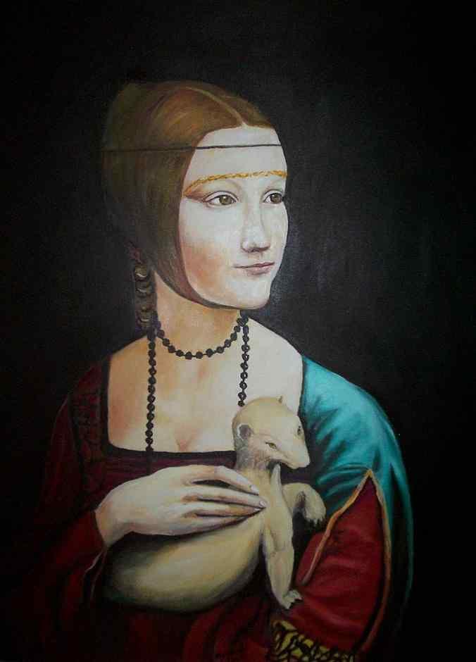 Carlos Meinardi - A dama do Arminho (Leonardo da Vinci) (réplica)
