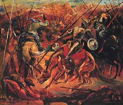 Hector Julio Páride Bernabó Carybé - Batalha - Conquista