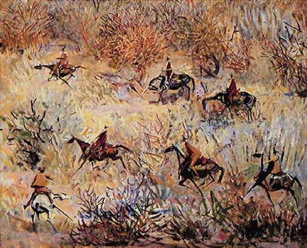 Hector Julio Páride Bernabó Carybé - Vaqueiros na caatinga (Série Cavalos da Rainha)